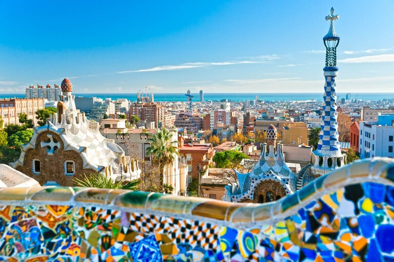 The Barcelona skyline.