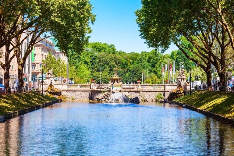 Fountain Tritonenbrunnen in Düsseldorf - Germany