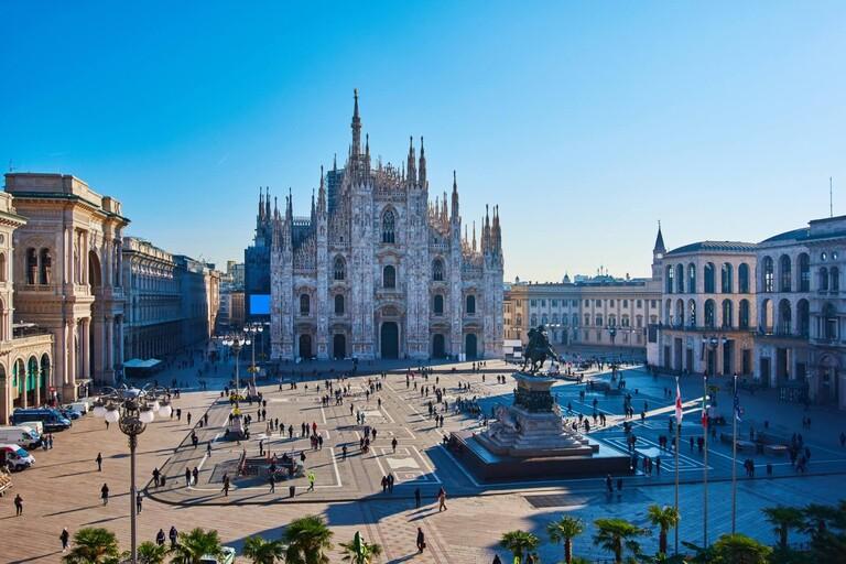 A shot of the Duomo di Milano in Italy.