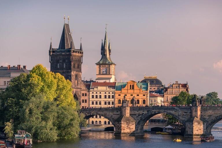 The Charles Bridge in Prague.