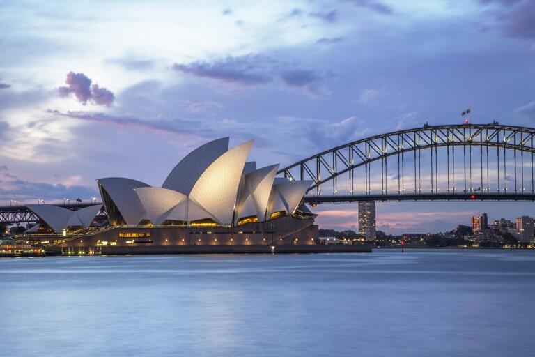 The Sydney Opera House and Bridge.