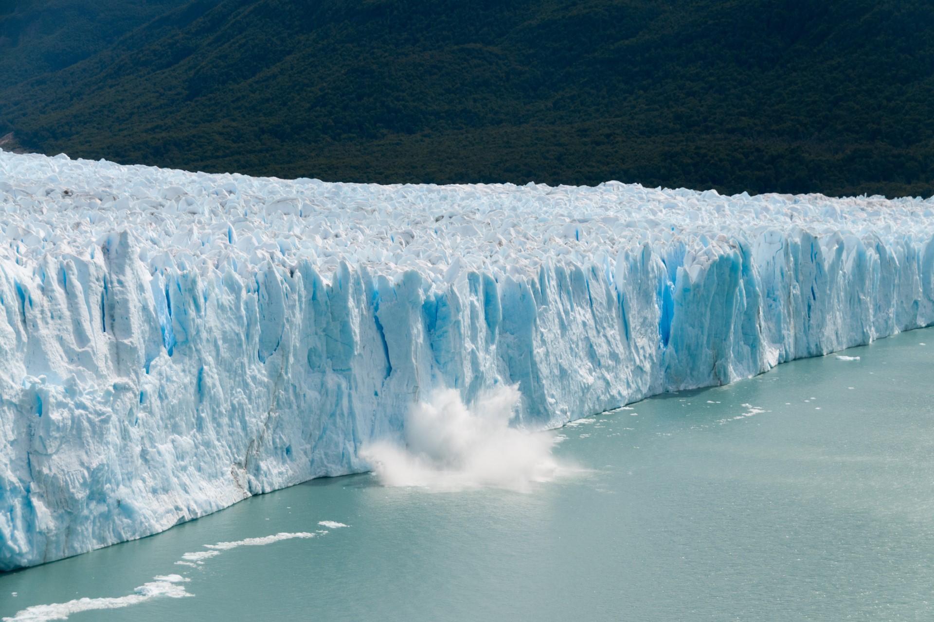 An glacier melting.