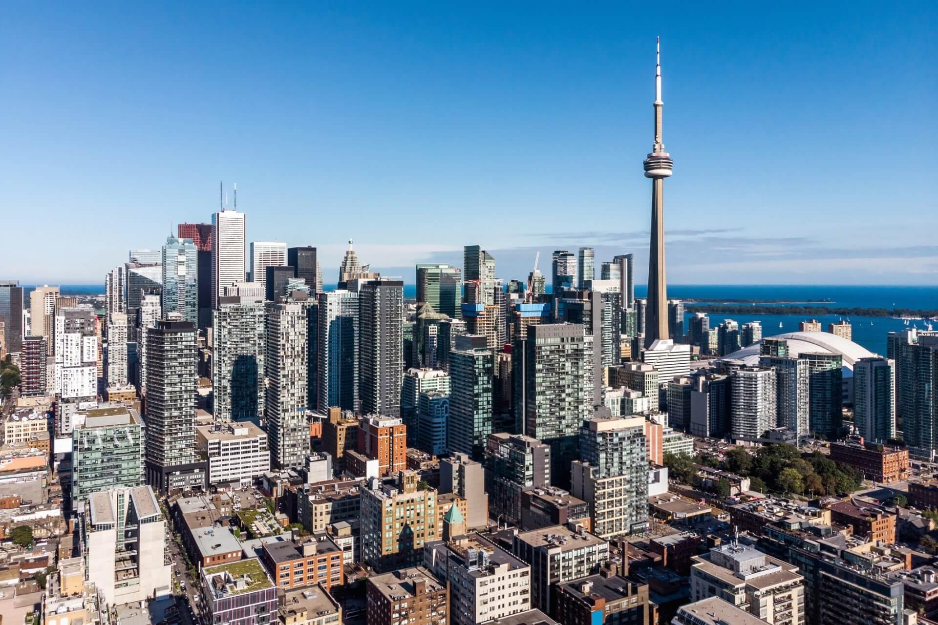 The Toronto city skyline.